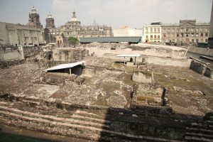 The Templo Mayor Ruins of Zocolo