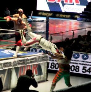 Lucha Libre moves are intense.