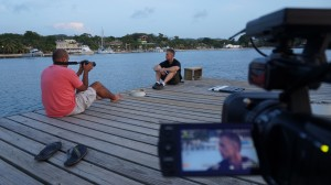 Taping in beautiful Roatan