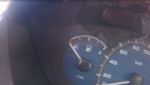 Gas gauge at time of pick up