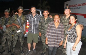 After Our Rescue With Honduran Soldiers.