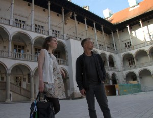 With Krakow Local & U.S. Expat Sara at Wawel Castle