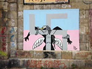 Interesting Graffiti acknowledging Austria's past.