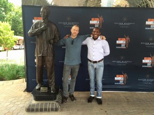 Mndeni & I at Nelson Mandela Centre of Memory