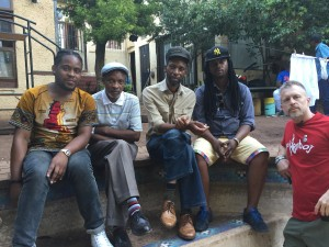 "With the Rasta / Reggae Band ""Tidal Waves"""